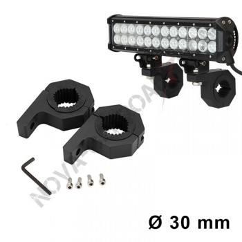 Support barre led 30 mm