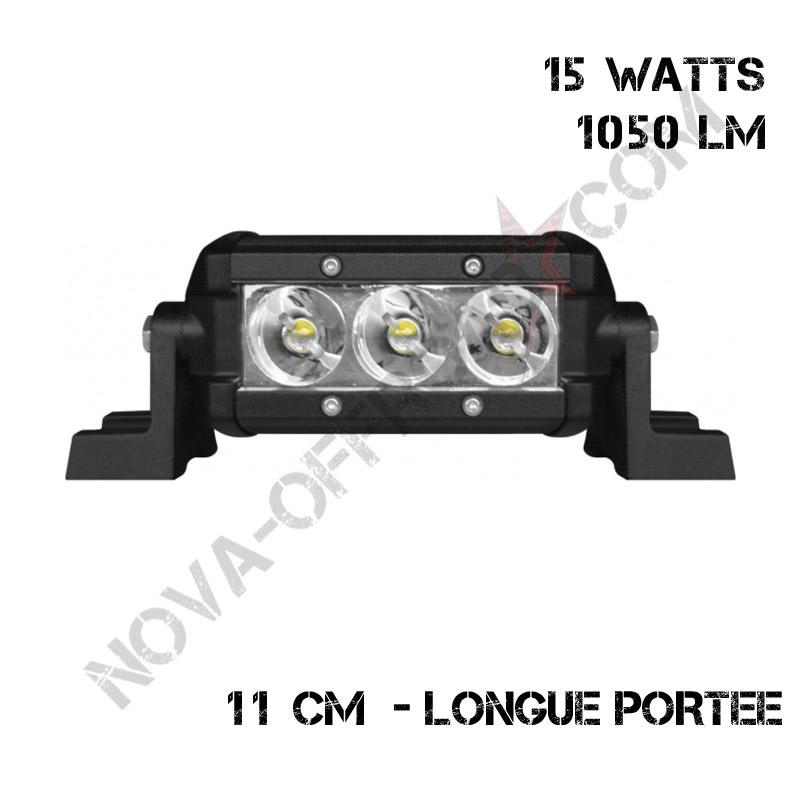 Barre 3 Leds 15 watts longue portée